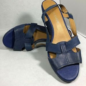 Franco Sarto Wedge Heels Size 9.5 Blue